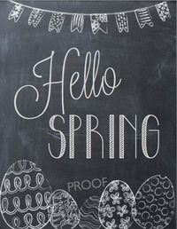 Hello Spring PDF ETSY Easter Quote Easter Decor