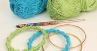 PlanetJune Accessories Twisted Chain Bangle crochet pattern - free