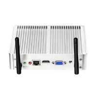 XCY Mini PC Intel Core i3-4010Y Win 10 4GB+120GB Linux Micro Desktop HDMI VGA 6*USB 300Mbp WiFi Gigabit Ethernet Thin Client HTPC Fanless