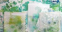 Sizzix Tutorial | Bubble and Gelli Print Album by Anna-Karin Evaldsson With gelli printing you can quickly make many pages for a mini-book. All of them will be different but they will still coordinate. Instead of using my embossing folders to make pattern...