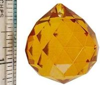 30 Mm Amber Faceted Crystal Ball $5.95