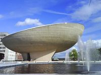 """The Egg �€"""" Albany, New York. The Egg is a performing arts venue in Albany, New York. Named for the shape it resembles, it was designed by Harrison & Abramovitz as part of the Empire State Plaza project, and built between 1966 and 1978. It ..."""