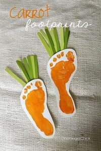 Even a baby can help with these sweet carrots.Found on Pinterest here.