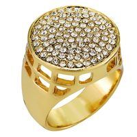 18k Gold Plated Circular Cast Design Ring £17.95