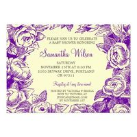 Baby Shower Stationery Purple