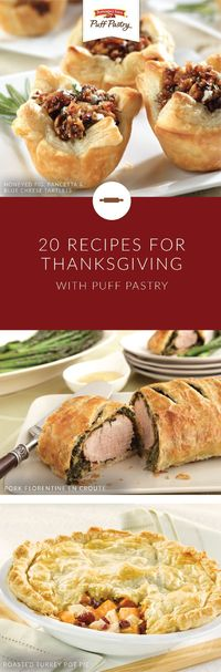Pepperidge Farm® Puff Pastry Sheets are giving you plenty of things to be thankful for. Explore this collection of Thanksgiving Day recipes to find the next addition to your family dinner table. With indulgent options like Hazelnut Chocolate Caramel Blos...