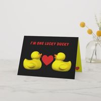 Lucky Ducky Holiday Card