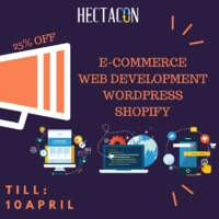 Our Special Sale is now On! Hectacon Web Development & Design Company is the best Option for you. We are here to provide #WordPress #Business Cards #Logo Designing #Ecommerce #SEOServices, #Social Media Marketing, etc services on time. Visit For more...