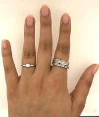 Simple free shape 0,25 carats diamond in 18 karat white gold stackable and solo ring < #jewelry #oneofkind #specialorder #customize #honest #integrity #diamond #gold #rings #weddingband #anniversary #finejewelry #salknight