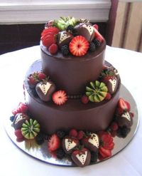 chocolate strawberry wedding cake kiwi
