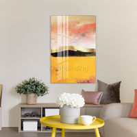 Framed wall art Abstract Acrylic yellow Paintings on Canvas original art Gold painting extra Large wall pictures cuadros abstractos $116.47