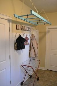 Reuse- Ladder into a Laundry Rack Idea - Remodelaholic