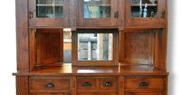 Pass through, built-in buffet cabinet.