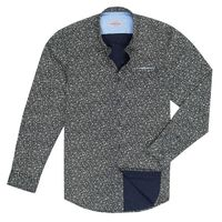 Create a stylish look with this Oxford Men floral design on navy blue casual shirt. Woven in Egyptian cotton. this casual shirt has a fine finish.  �€� 100% Cotton  �€� Classic collar  �€� Full Sleeve  �€� Oxford Men ...
