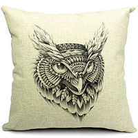 Cool Animal Cotton/Linen Decorative Pillow Cover