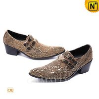 Leather Shoes Brand | CWMALLS® Rome Embossed Leather Dress Shoes CW708215 [Christmas Gifts]