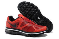 Mens Nike Air Max 2012 Action Red Running Shoe