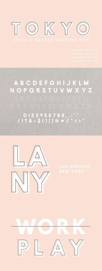 Tokyo   A Designer Font Duo by Jen Wagner Co on