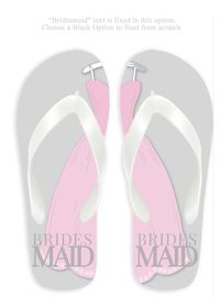 Bridesmaid with Gray Background Flip Flops $24.00