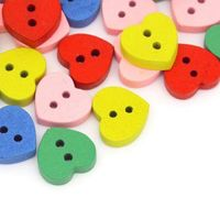 50 x Assorted Mix of Wooden Heart Buttons. Plain Design. 11mm x 12mm. Perfect for Upholstery, Valentine's Day Gift, Sewing and Needle Craft £2.89