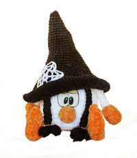 Halloween crochet girl Gnome amigurumi. Crochet gift for mom or daughter. Halloween home decore $45.00