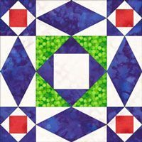 Storm at Sea quilt block free paper piecing pattern