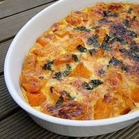 Scalloped Sweet Potatoes and Butternut Squash | Simple fall casserole with big flavor.