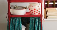 Upcycle an old or thrifted cart into a cute #DIY Kitchen Island.
