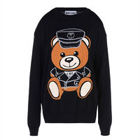 Moschino Dressed Teddy Bear Long Sleeves Sweater Black