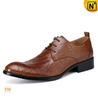 Croc-Embossed Leather Dress Shoes for Men CW762018
