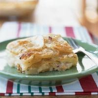 Layered potato side dish recipes are delightfully filling and loaded with flavor. To easily create uniformly thin potato slices, use a mandoline or the slicing