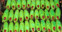 "Thank you, Dawn Koutromanis, for introducing me to Halloween ""finger"" cookies! Usually I see flesh colored cookies, but I love that she made hers green!"