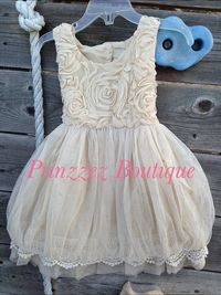Hey, I found this really awesome Etsy listing at https://www.etsy.com/listing/181554984/flower-girl-girls-rosette-beigechampagne