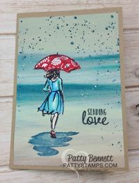 I have been having so much fun playing with the Stampin' Up! Watercolor Pencils, Blender Pens and Aquapainters to color the lady images in the Beautiful You sta