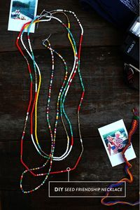 DIY: how to make a friendship necklace I don't normally do seed beads, but these are rally cute.