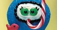 Snorkeler cupcake- very cute & clever, but I'd use a fruit flavored candy cane in a different color.