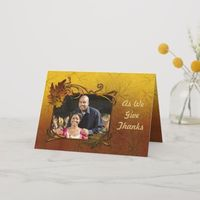 Autumn Leaves Thanksgiving Holiday Card