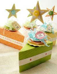 super cute way to dress up cake slice boxes.