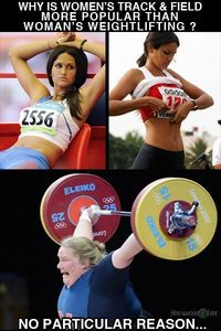 Women's weightlifting...