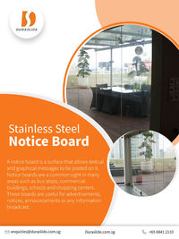 Stainless Steel Notice Board