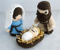 Crochet nativity. Perfect gift idea for my MIL (she collects nativities).