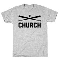 Baseball Church Athletic Gray Unisex Cotton Tee Shirt $23.99 �œ� Handcrafted in USA! �œ� Support American Artisans