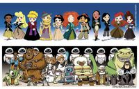 Time Lord Princesses and Pixar Star Wars...way too much awesome here