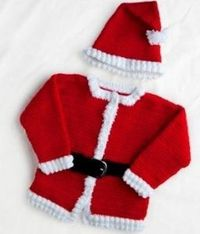 Dress your baby as Santa Claus for Christmas this year with our jolly crocheted Santa outfit. These free crochet patterns include a hat and jacket to make your