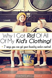 Desperate times call for desperate measures. This mom got rid of (almost) ALL OF HER KIDS CLOTHING!!! Find out why by clicking through! | The Glamorous Housewife