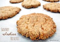 a gluten-free and paleo-friendly Savory Indian Biscuit (Mathi) - My Heart Beets