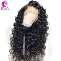 EVA Glueless Lace Front Human Hair Wigs Pre Plucked With Baby Hair Brazilian Remy Loose Curly Lace Front Wigs For Black Women $442.53