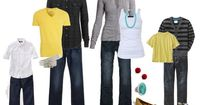 Family Pictures - Yellow, black, gray & white, created by randglopez on Polyvore