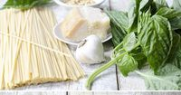 Perfect treat for your meatless Monday (and any day, really). Easiest how-to on basil pesto. Blend and mange!