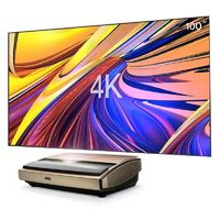 JMGO S3 Ultra Short Throw 4K Laser Projector 3000 ANSI Lumens 3840x2160 Resolution Android 2GB+16GB Beamer 2.4GHz+5GHz WiFi Bluetooth4.0 3D Home Theater Prejector